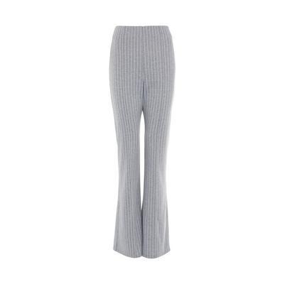 Grey Pinstripe Flare Leggings