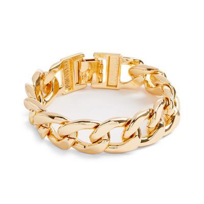 Goldtone Chunky Curb Chain Bracelet