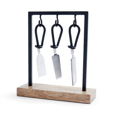 Wooden Cheese Cutter Set