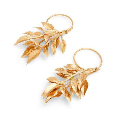 Goldtone Leaf Napkin Rings 2 Pack