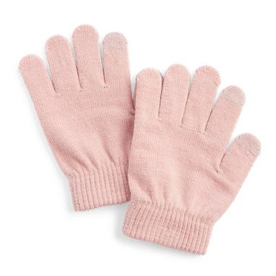 Pink Touchscreen Gloves