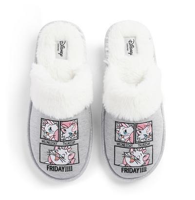 Pantofole grigie Minou Aristogatti Disney