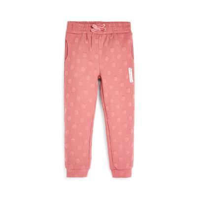 Younger Girl Pink Polka Dot Joggers