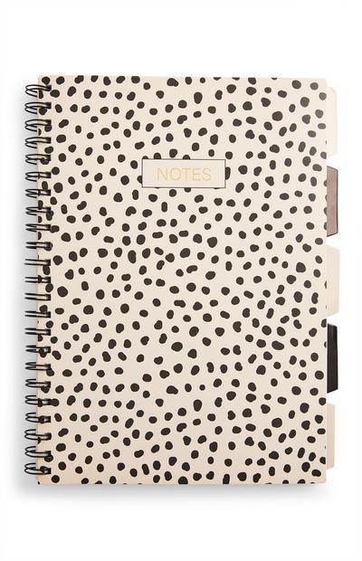 A4-notitieboek met stippenprint en tabbladen