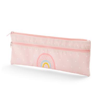 Pink Rainbow Long Pencil Case