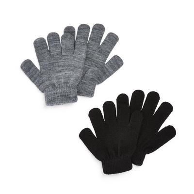 2-Pack Gray And Black Magic Gloves