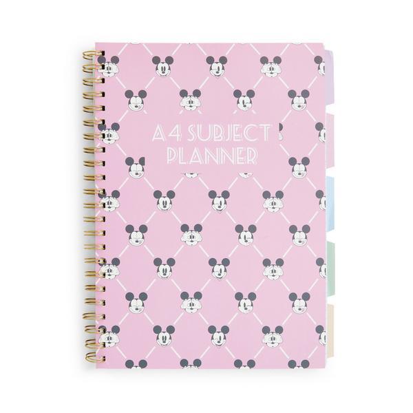 Cuaderno rosa con pestañas A4 de Minnie Mouse