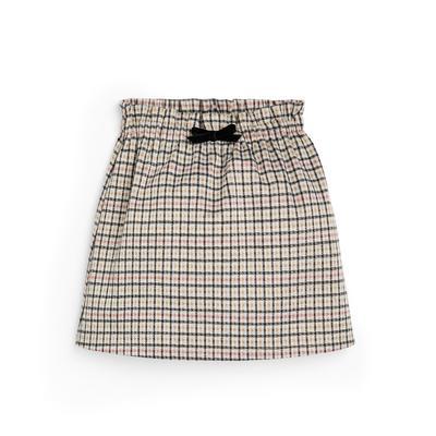 Younger Girl Check Ponte Skirt