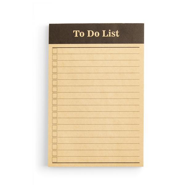 Brown To Do List Memo Pad