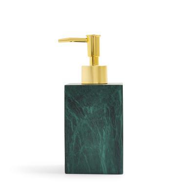 Green Marble Square Soap Dispenser