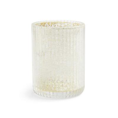 Clear Glass Mercury Print Tumbler
