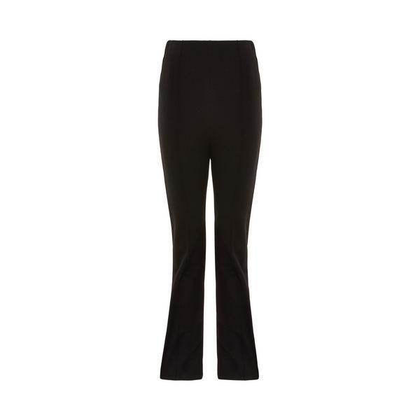 Black Solid Flared Pants