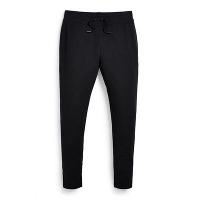 Zwarte skinny joggingbroek van jersey voor meisjes
