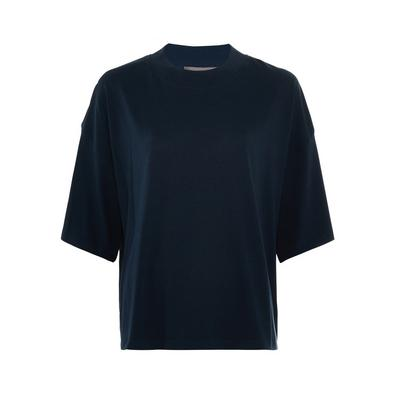 Marineblaues T-Shirt aus dicker Baumwolle