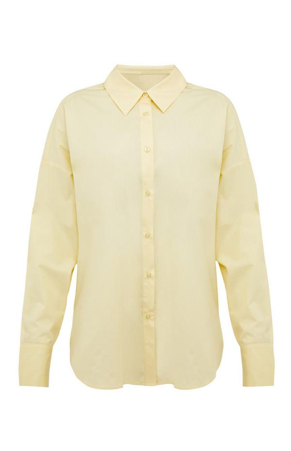 Yellow Pastel Poplin Button Up Shirt