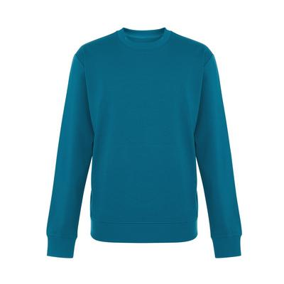 Teal Tailored Crew Neck Sweater