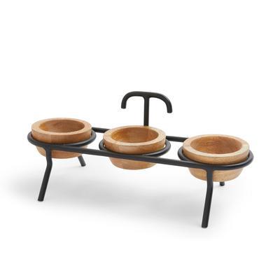 Wooden Pinch Bowls Stand
