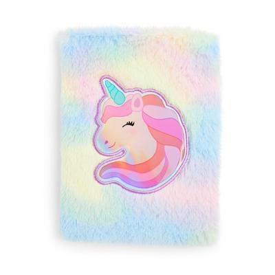 Multcolour Fluffy Unicorn Notebook