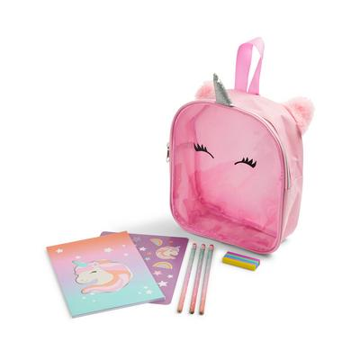Pink Unicorn Stationery Back Pack