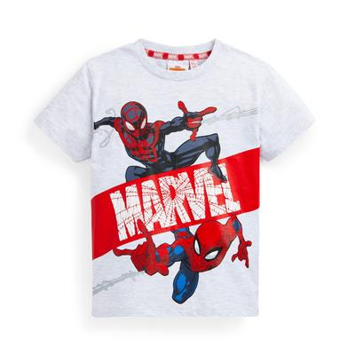T-shirt bianca Spiderman Miles Morales da bambino
