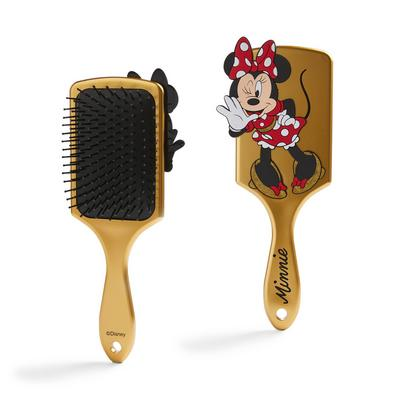Goldtone Minnie Mouse Paddle Brush