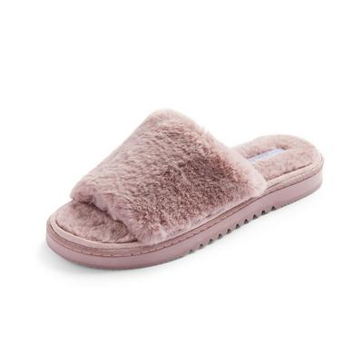Mauve Cleated Slider Slippers