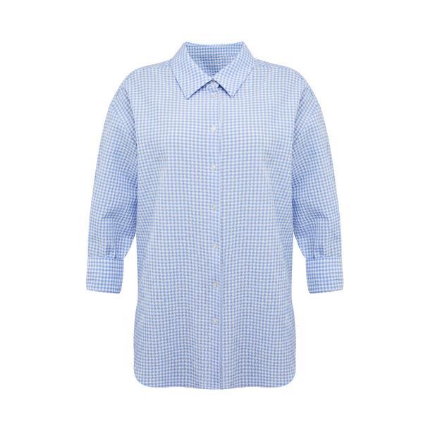 Blaues Hemd mit Vichykaros