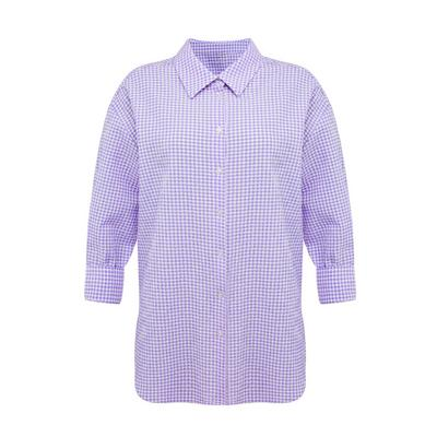 Violettes Hemd mit Vichykaros