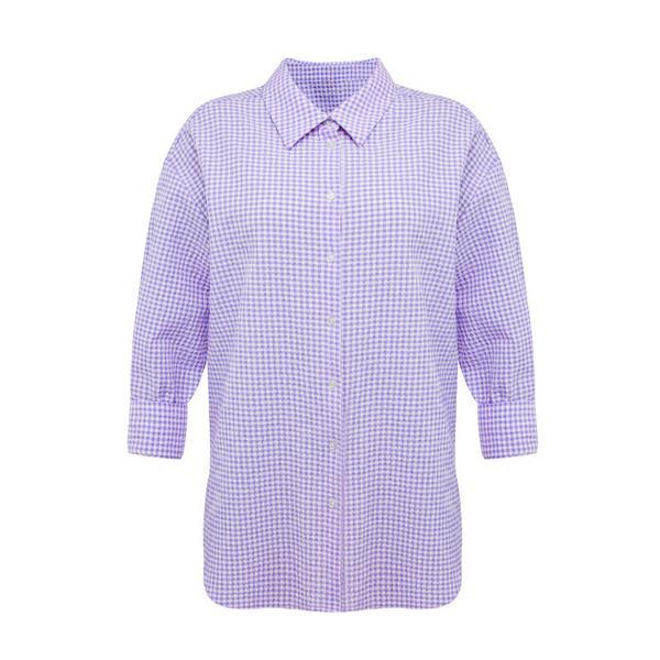Vijolična karirasta srajca