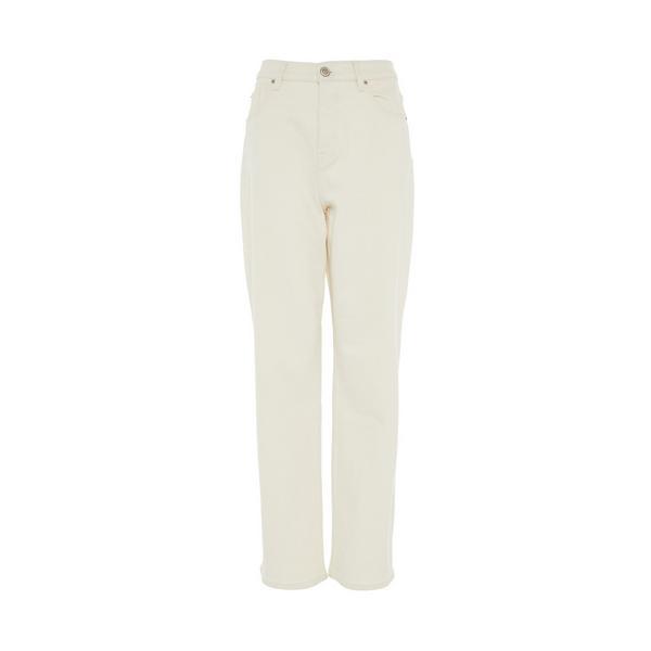 Slonokoščene ohlapne hlače s širokimi hlačnicami Primark Cares