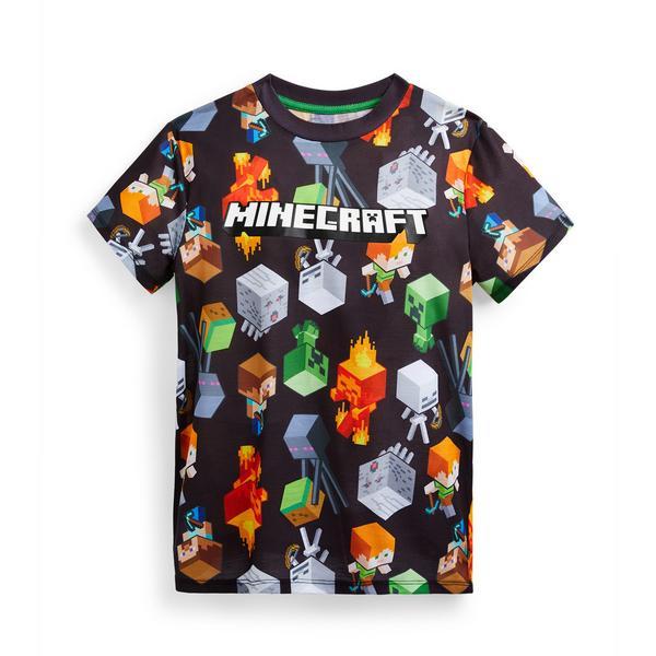 T-shirt estampado Minecraft rapaz