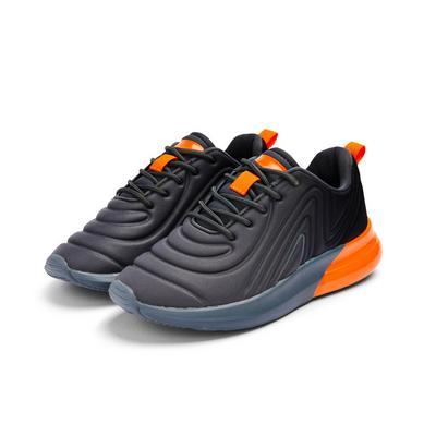 Older Boy Gray Phylon Embossed Sneakers