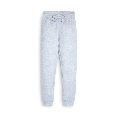 Older Girl Grey Quilted Joggers