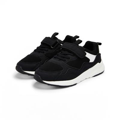 Younger Boy Black Chunky Sporty Sneakers