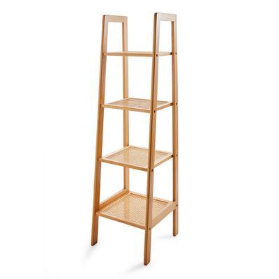 Natural Rattan Tall Standing Shelves