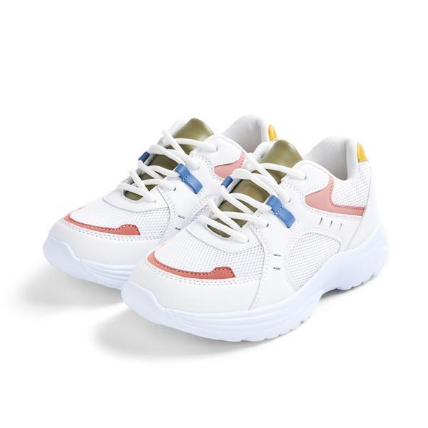 Stacey Solomon Older Girl White Chunky Sneakers
