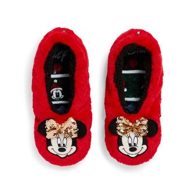 Rdeče stopalke z bleščicami Disney Mini Miška