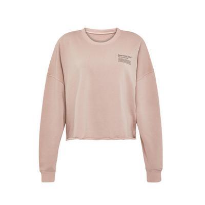 Camisola curta algodão orgânico Earthcolours by Archroma rosa-pálido