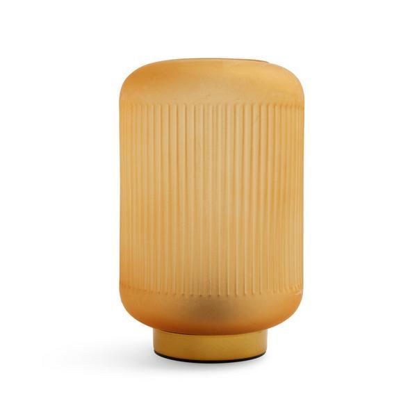 Mini lanterne en verre ambré