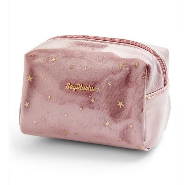 Bolsa maquilhagem perspex horóscopo Sagittarius cor-de-rosa