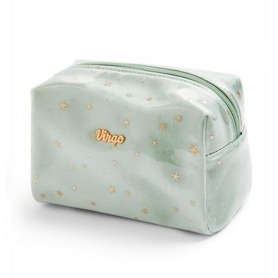Green Virgo Horoscope Perspex Make Up Bag