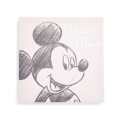 "Graues ""Disney Micky Maus"" Leinwandbild 30 x 30 cm"