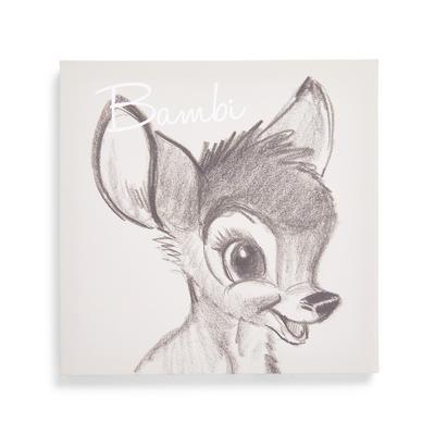Decorazione da appendere in tela grigia Bambi 30 x 30cm