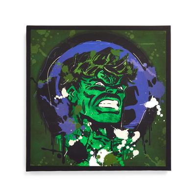 """Green Marvel Hulk"" Leinwandbild 30 x 30 cm"