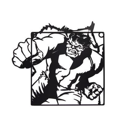 Zwarte metalen Marvel Hulk-muurdecoratie