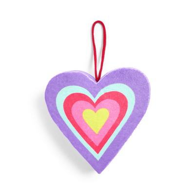 Mood Boost Heart Shaped Hanging Body Sponge