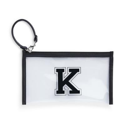 Clear Perspex Initial Clip On Mask Pouch