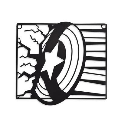 "Schwarze ""Marvel Captain America"" Wanddeko aus Metall"