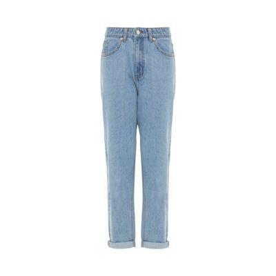 Blue Light Wash Denim Mom Jeans