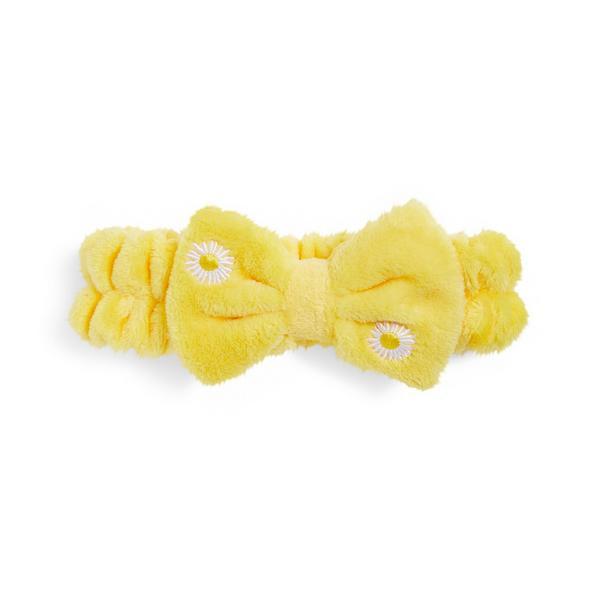 """Gelbes """"Mood Boost"""" Haarband mit Schleife"""